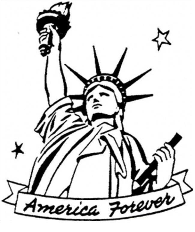 Coloriage Statue de la Liberté à imprimer