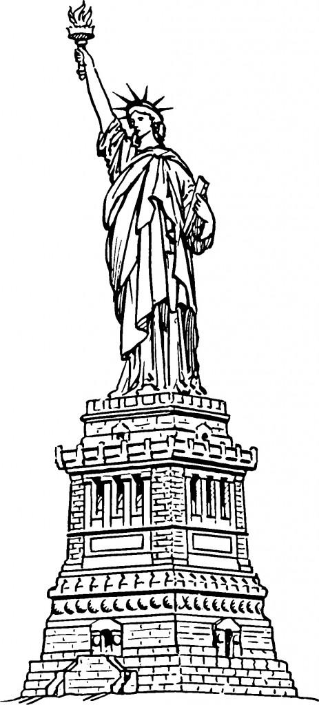Coloriage Statue de la Liberté