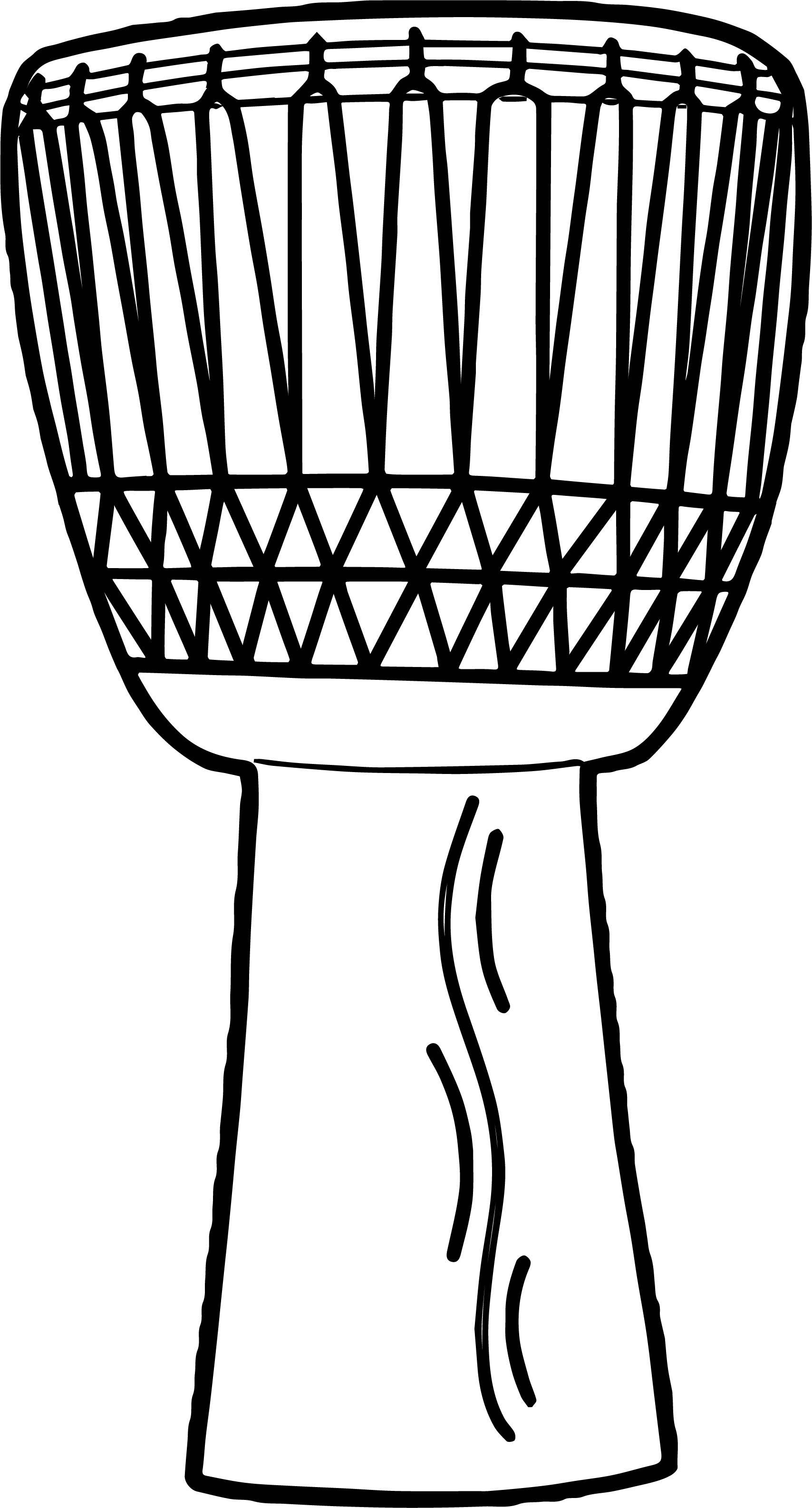 Coloriage de tambour africain