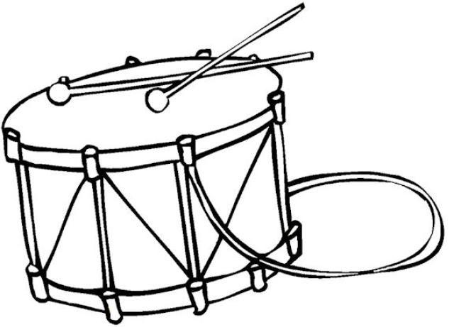 Coloriage tambour avec sangle