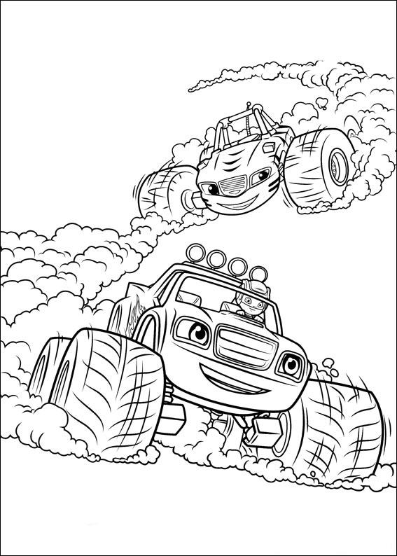 Coloriage Blaze et les Monster Machines