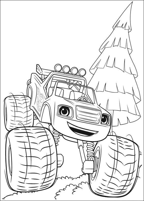 Blaze et les Monster Machines à colorier