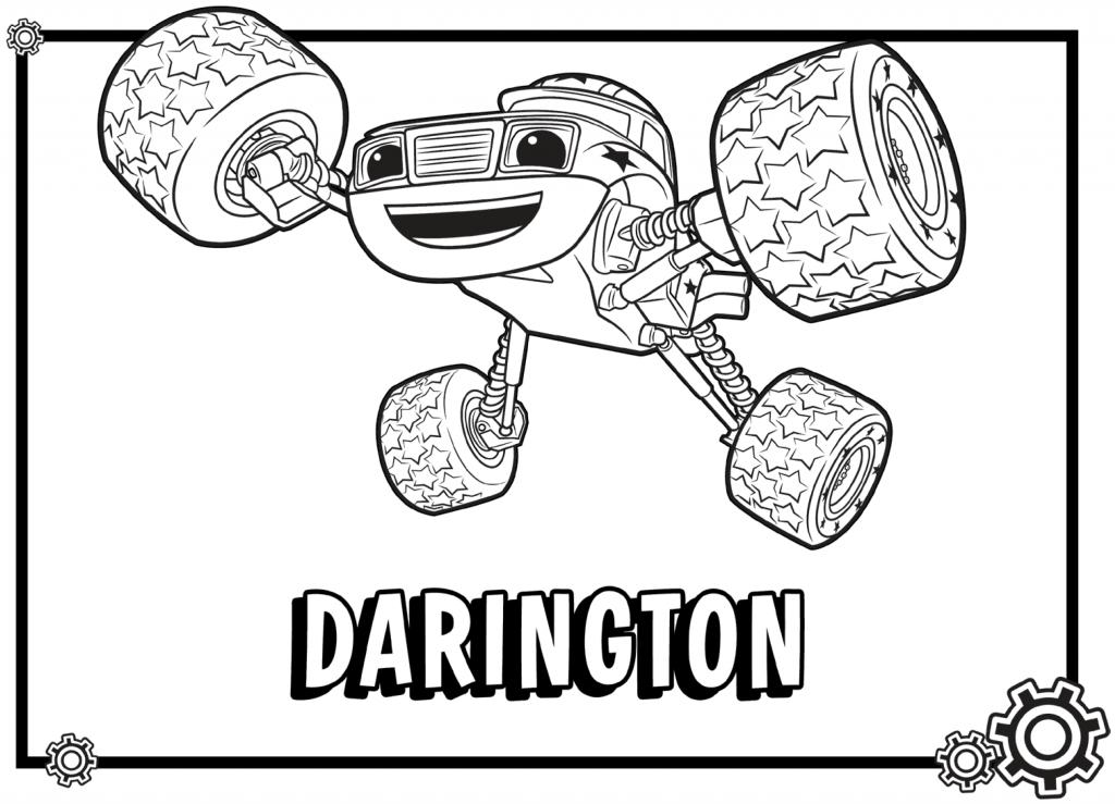 Coloriage de Darington Blaze et les Monster Machines