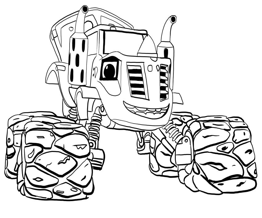 Coloriage Zeg Blaze et les Monster Machines