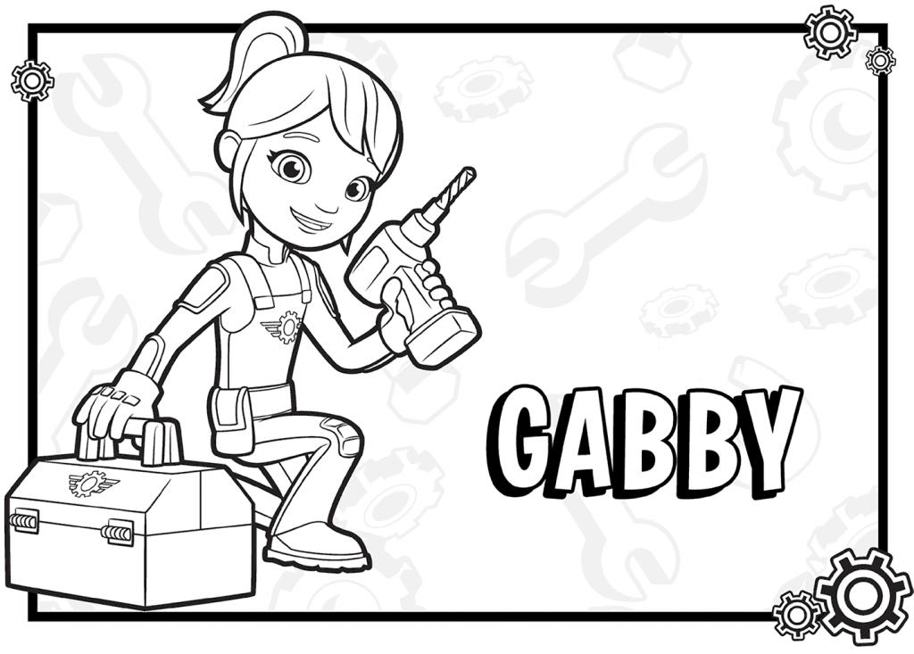 Coloriage Gabby Blaze et les Monster Machines
