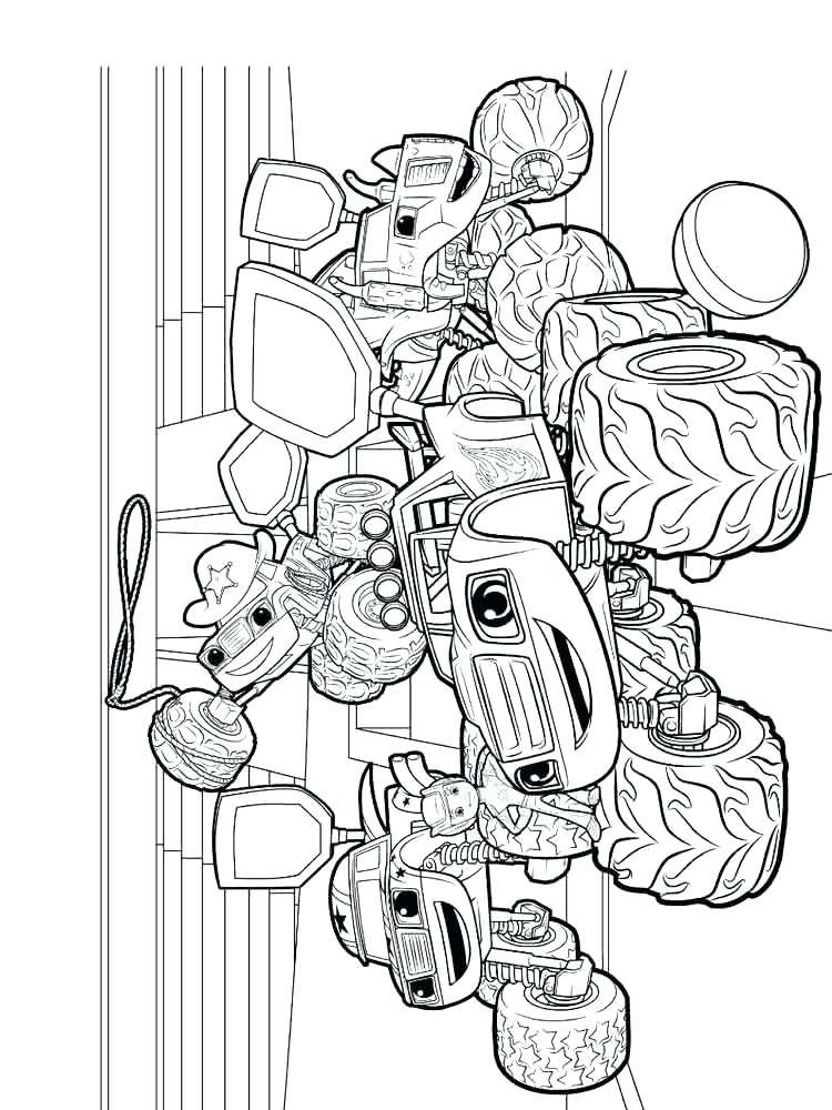 Blaze et les Monster Machines à colorier imprimable