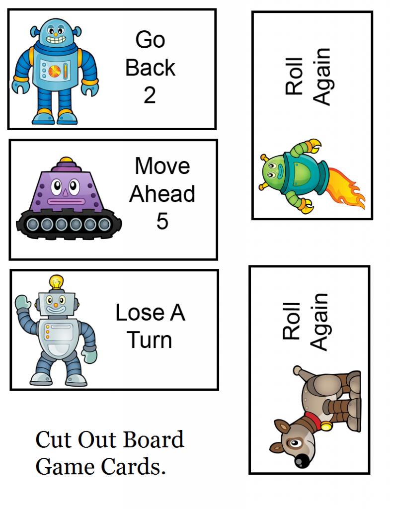 Cartes de jeu de robot