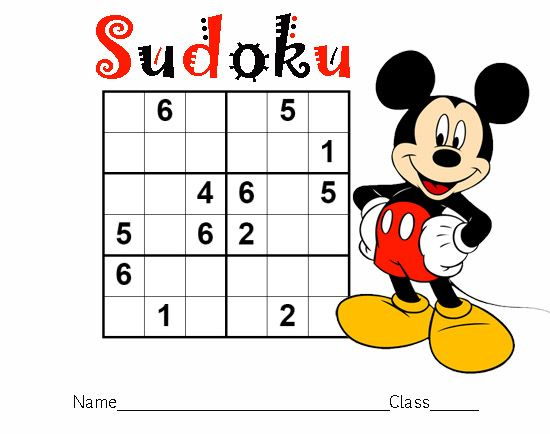 Mickey Mouse Sudoku imprimable