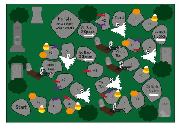 Fantômes imprimables gratuits dans le jeu de société Graveyard