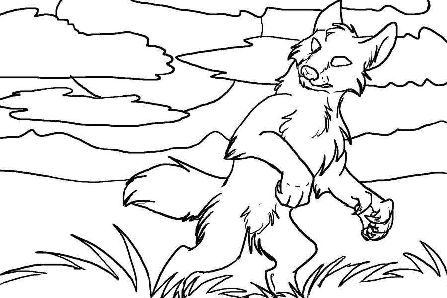 Coloriage de loup-garou
