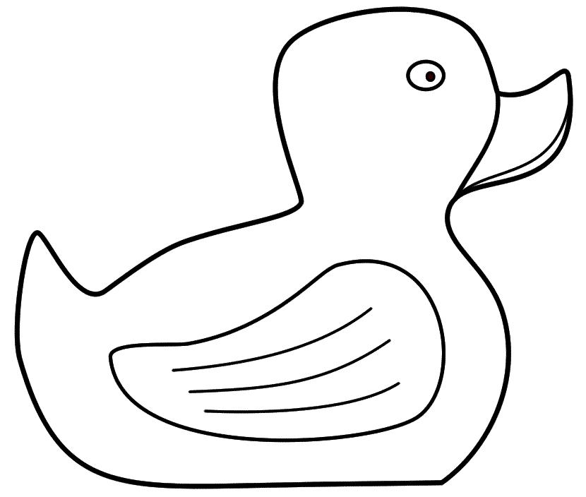 Coloriage canard en caoutchouc