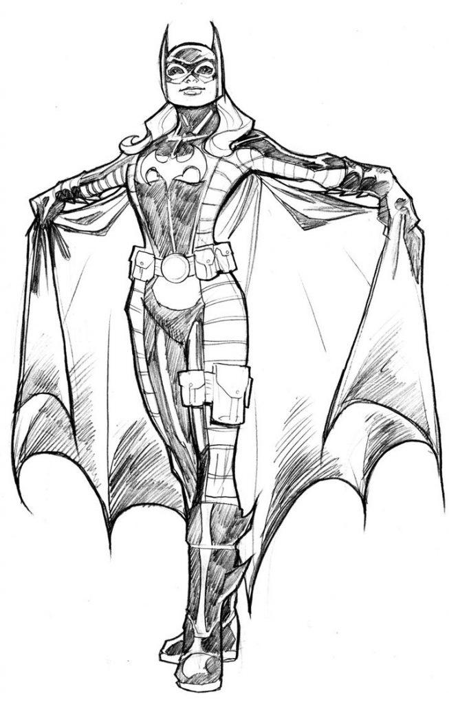Coloriage Batgirl à Imprimer Gratuit Pour Les Enfants