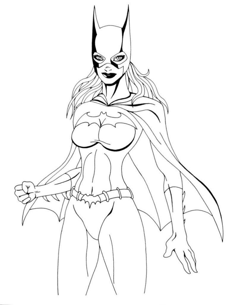 Coloriage Batgirl à Imprimer Gratuit
