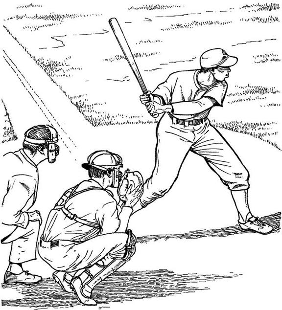 coloriage-terrain-de-baseball