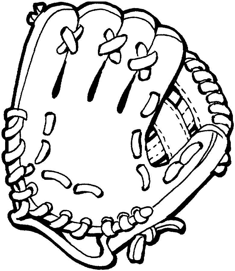 coloriage-gant de baseball