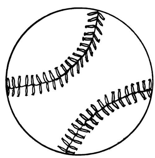 coloriage de baseball