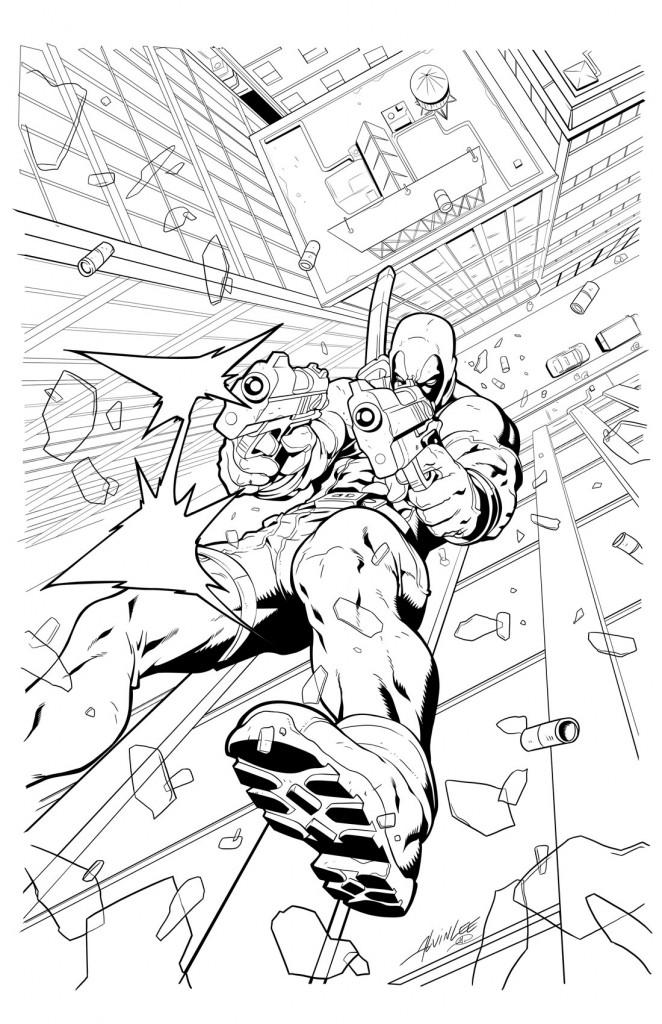 Deadpool à colorier