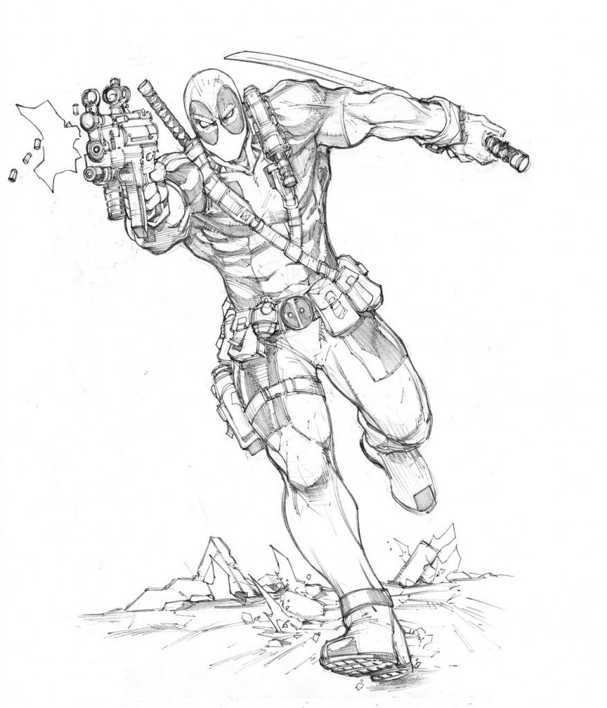 Coloriage Deadpool