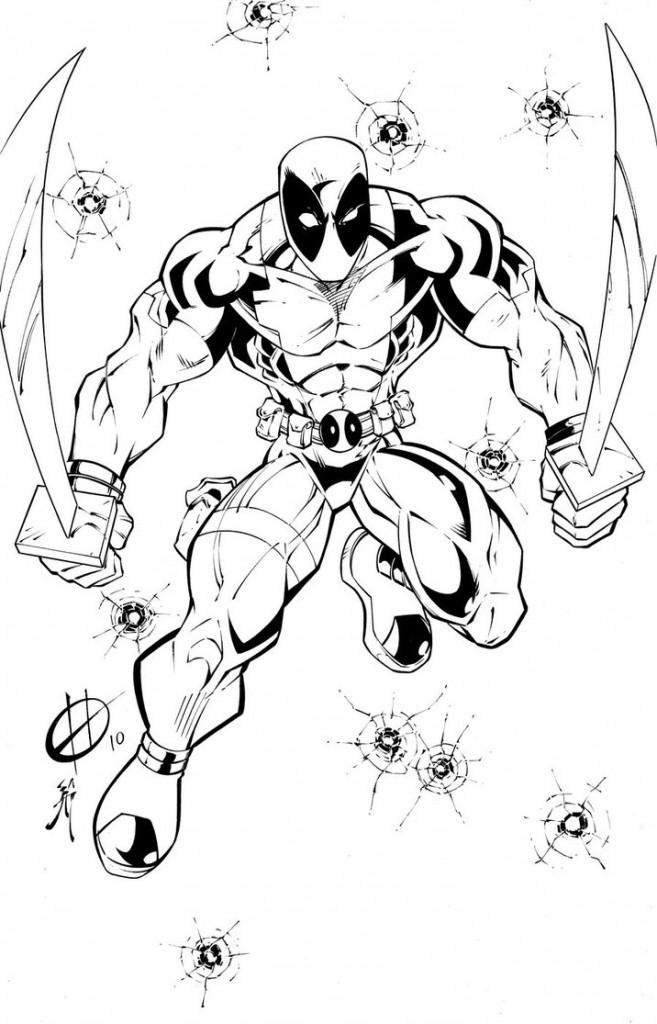 Coloriages gratuits de Deadpool