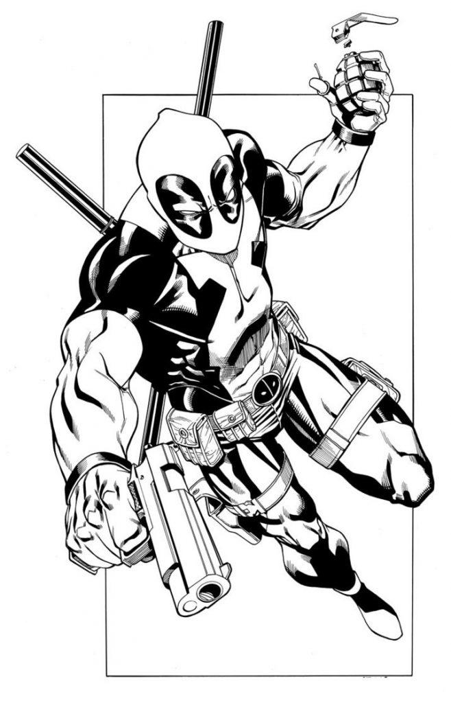 Coloriage Deadpool gratuit à imprimer