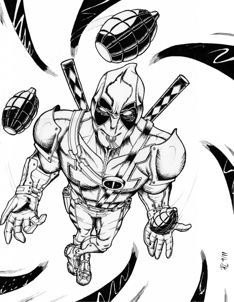 Coloriage Deadpool gratuit