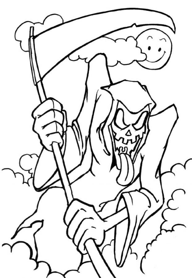 Coloriage Halloween Grim Reaper