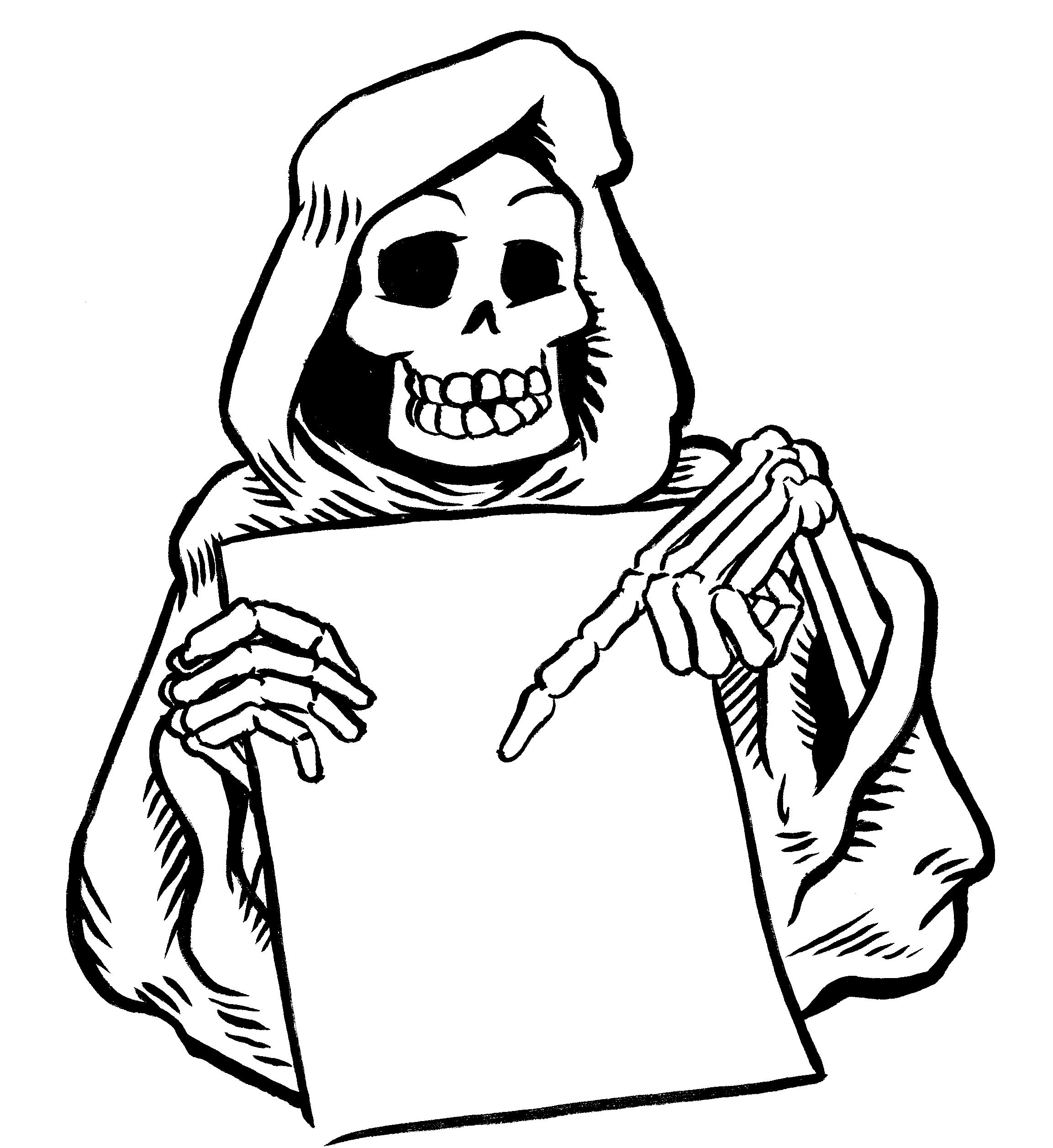 Coloriage de Grim Reaper