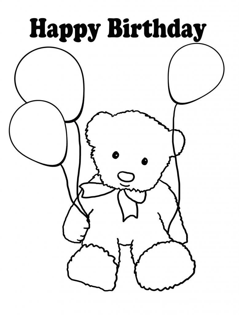 Coloriage ballon joyeux anniversaire