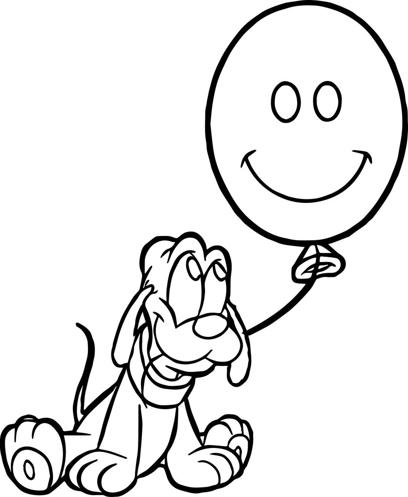 Coloriage ballon pluton