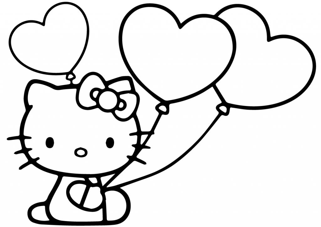 Coloriage Hello Kitty Ballon