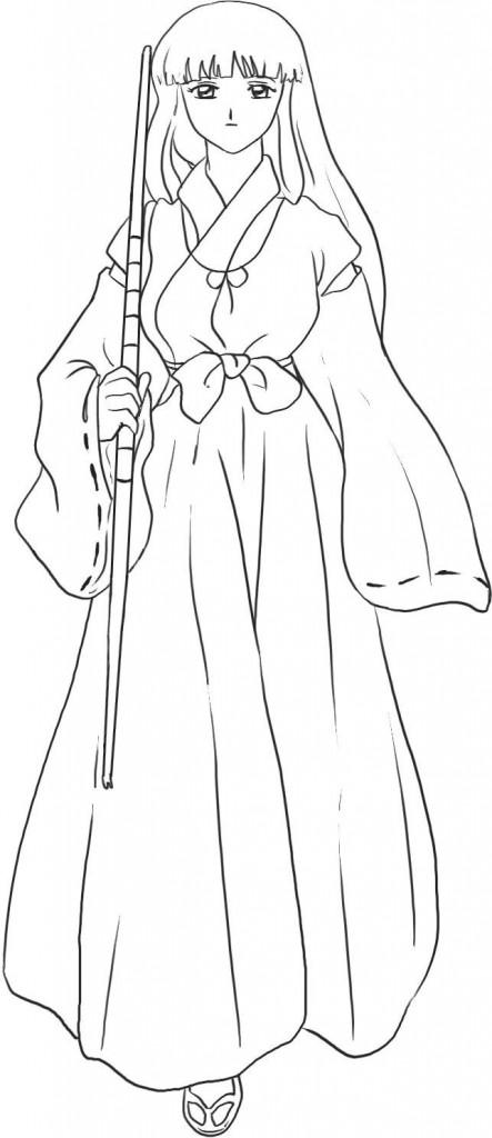 Inuyasha à colorier