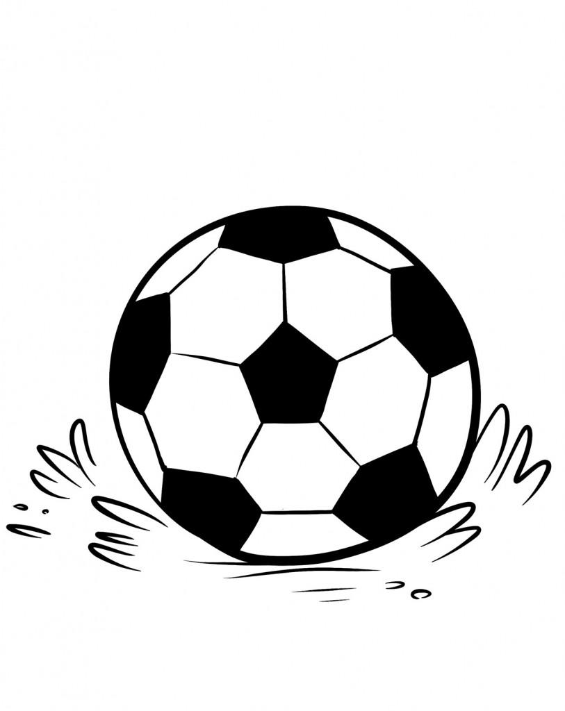 Coloriage de ballons de football