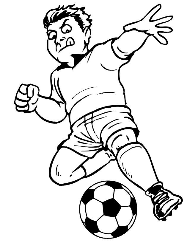 Coloriage de football pour enfants