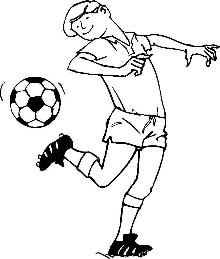 Coloriage de football à imprimer