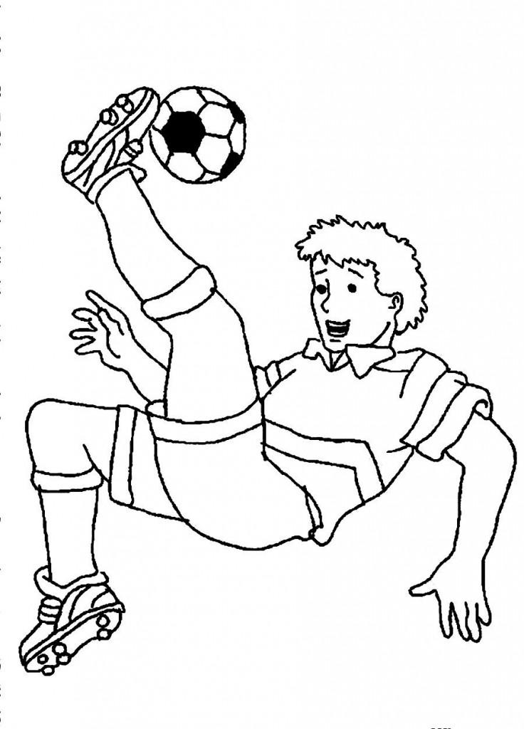 Coloriage de joueur de football