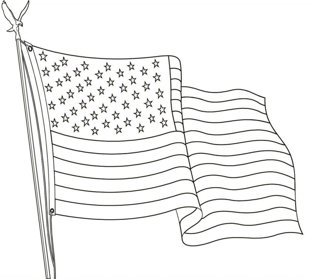 Coloriage du jour du drapeau américain