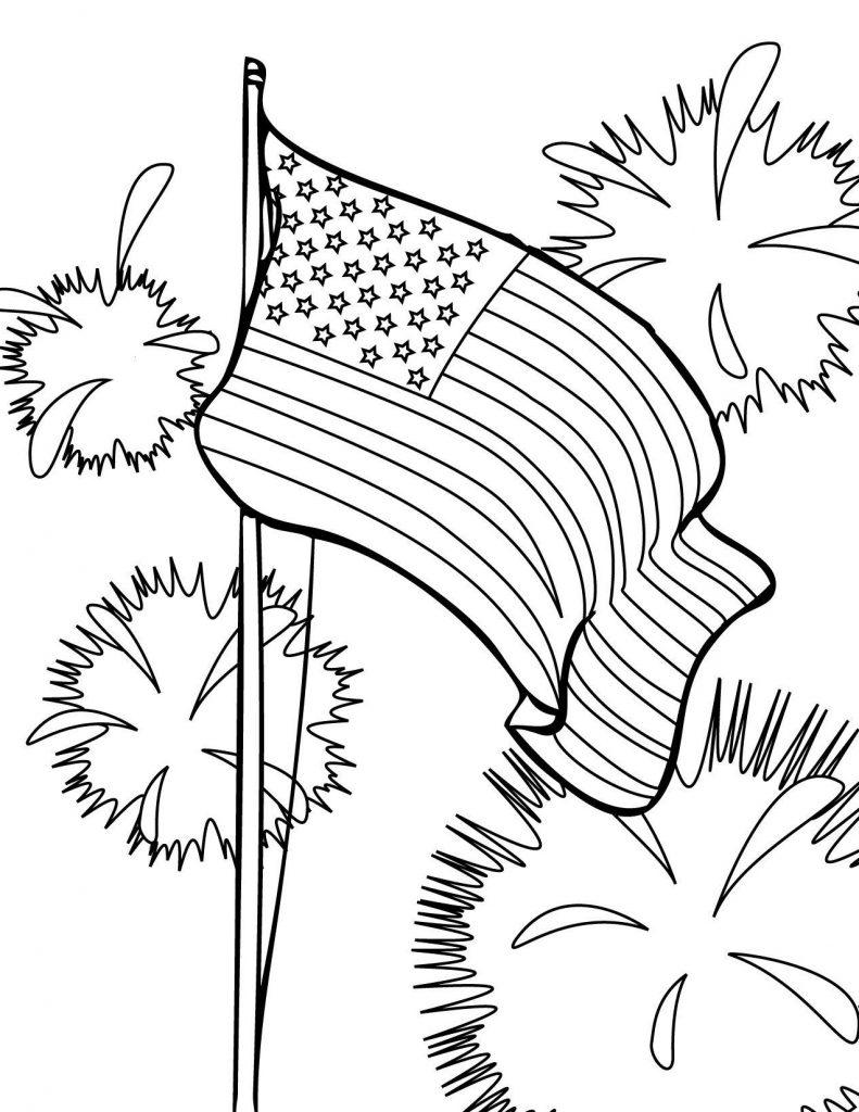 Coloriage de la fête du drapeau