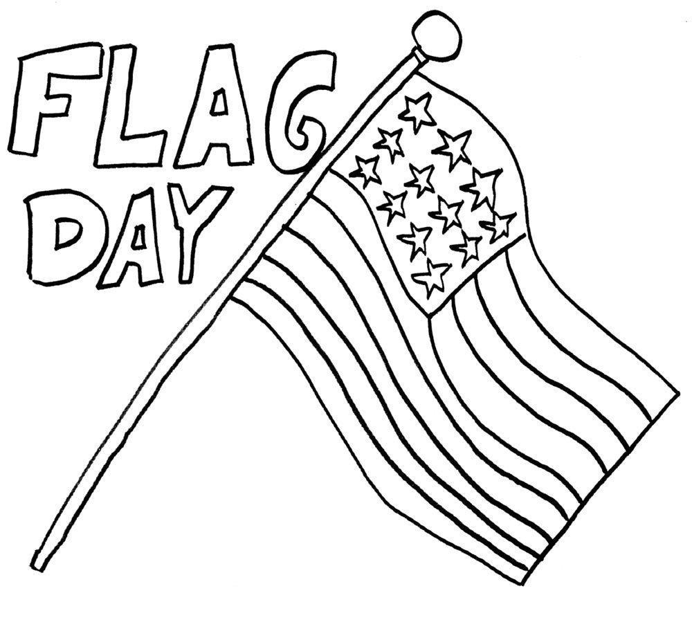 Coloriage joyeux jour du drapeau