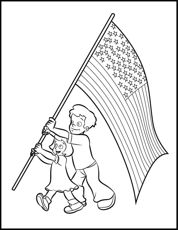 Coloriage du jour du drapeau