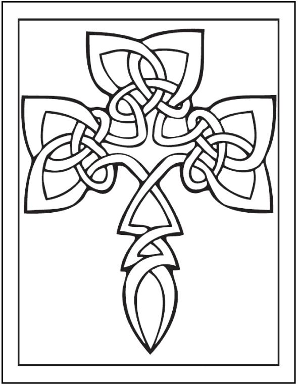 Symbole d'art celtique à colorier