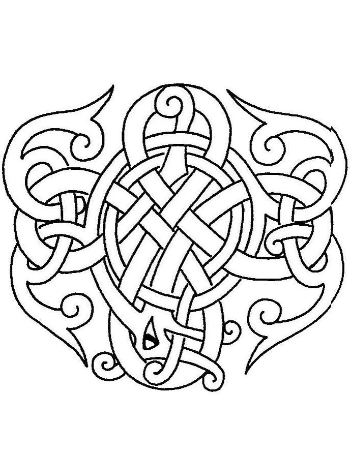 Coloriage celtique
