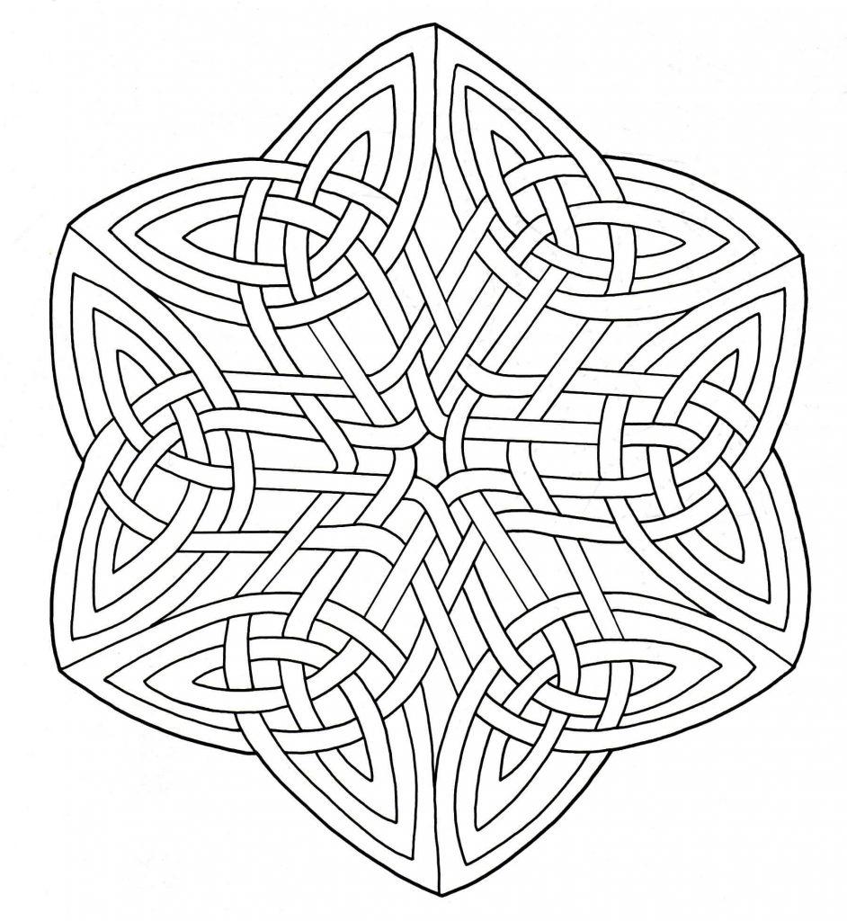 Coloriage Art celtique