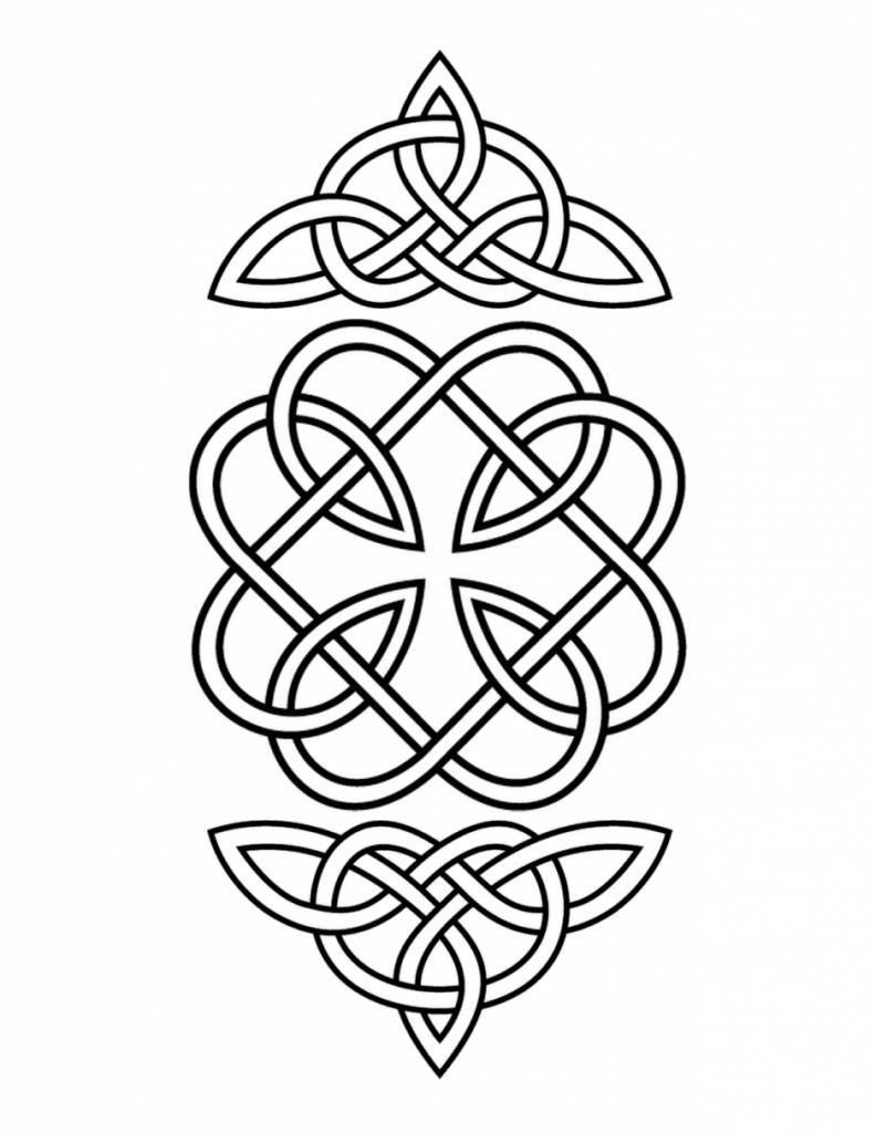 Coloriage celtique à imprimer