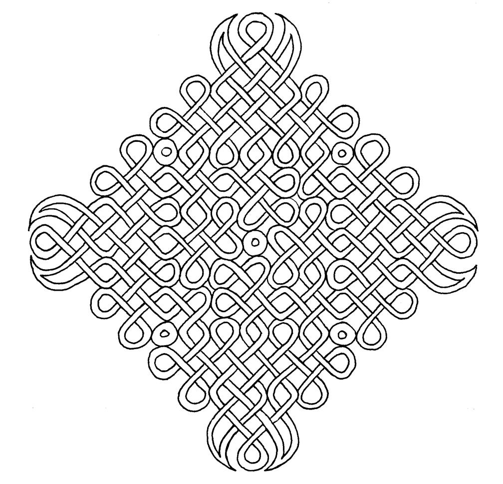 Coloriage de symbole celtique à imprimer