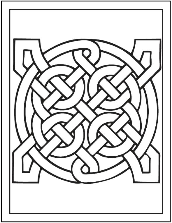 Coloriage Art celtique à imprimer