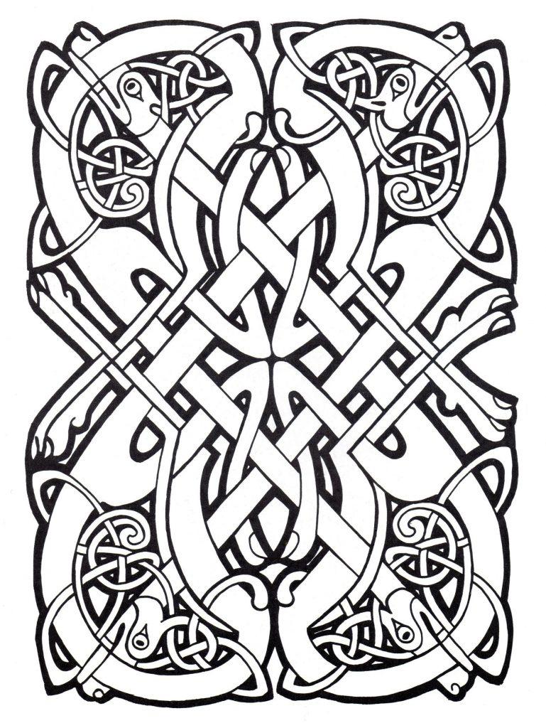 Coloriage celtique gratuit à imprimer