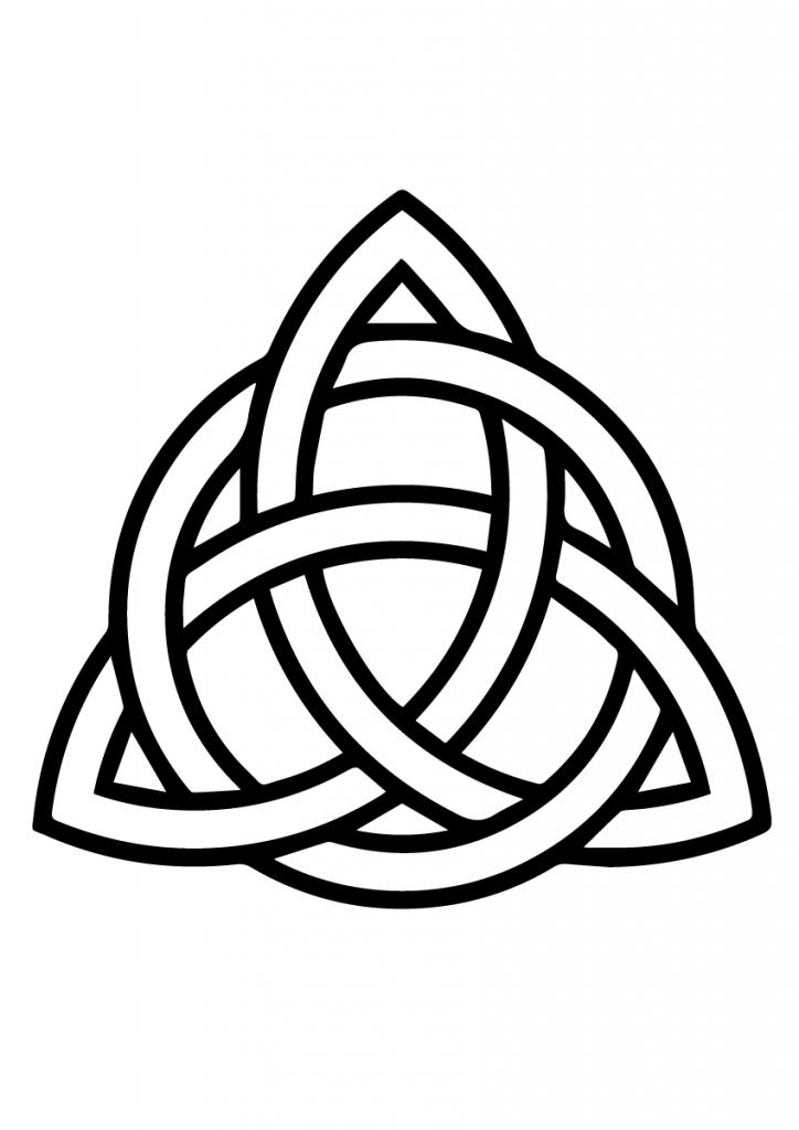 Coloriage noeud celtique