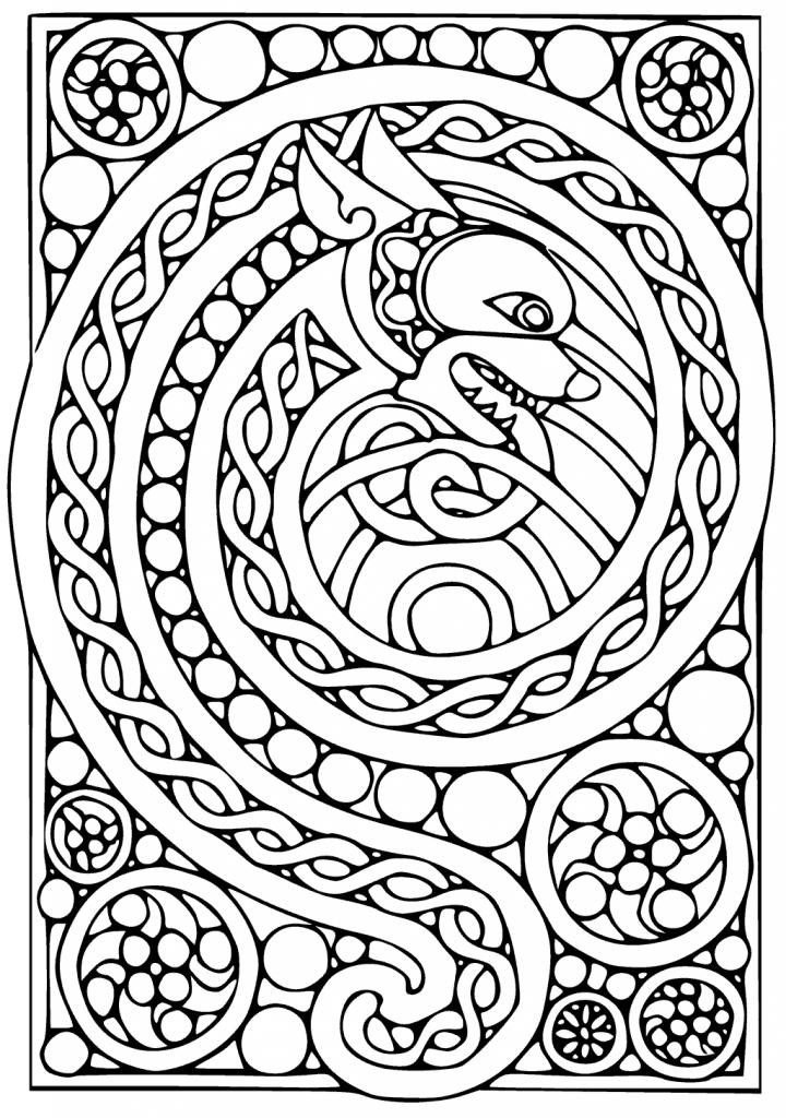 Coloriage Art celtique gratuit