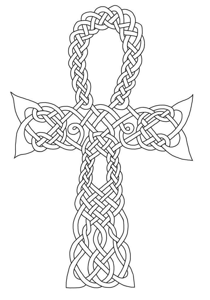 Coloriage du symbole celtique de l'Ankh