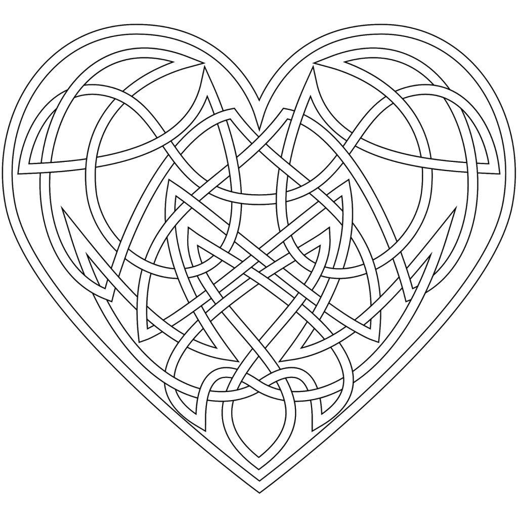 Coloriage symbole celtique